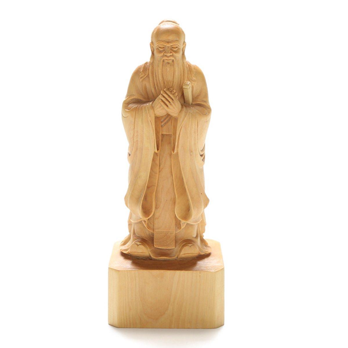 仏像 置物 木彫り 寿老人 七福神 手作り 木製彫刻 ツゲ B075NQ83Y9 Small Small