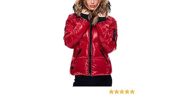 3e860378e SAM. Women's Blake Short Down Jacket with Fur