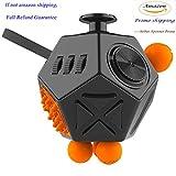 Fidget Cube-Prime Only(12 side Black-orange)
