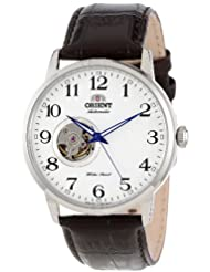 Orient Mens FDB08005W Esteem Stainless Steel Watch with Brown Leather Band