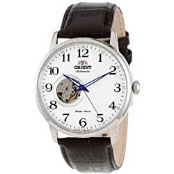 """Orient Men's FDB08005W """"Esteem"""" Stainless Steel Watch with Brown Leather Band"""