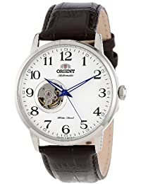 "Men's FDB08005W ""Esteem"" Stainless Steel Watch with Brown Leather Band"