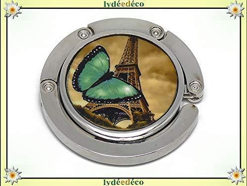 Bolso de resina Mariposa Torre Eiffel París sepia verde negro regalos personalizados regalo de Navidad amigos cumpleaños invitados Día de la Madre parejas ceremonia de boda