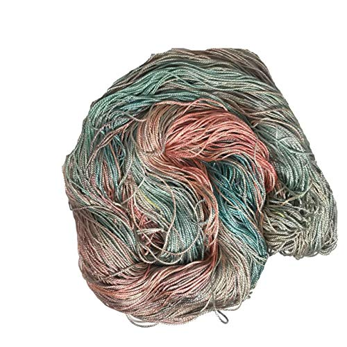 KNITSILK 100% Mulberry Silk Yarn 50 Gram 3 Ply Lace Weight | Great for Knitting, Crochet, Weaving, Mixed Media (Tulips)