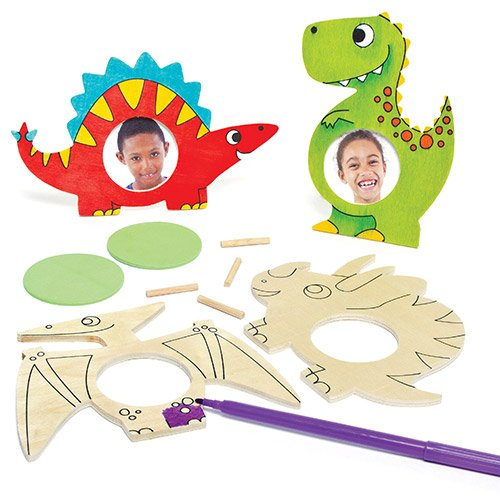 Dinosaur Wooden Photo Frames for Children to Color