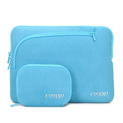 Coodio® Universal 11.6 Zoll Laptophülle + Zubehör Tasche für Apple Macbook Air 11, Chromebook 11 (Fit all 11.6 inch ultrabook laptop notebook) - Farbe Light Blau