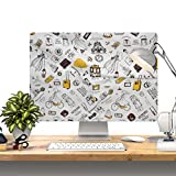 Love Travel HAND MADE Padded velvet Dust Cover for Apple iMac 27-inch - Screen Monitor Protector Guard