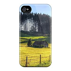 For CaroleSignorile Iphone Protective Cases, High Quality For Iphone 6 Cottage On A Hilly Field Skin Cases Covers wangjiang maoyi wangjiang maoyi by lolosakes