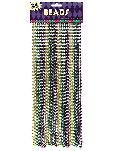Mardi Gras Disco Ball Beads - 24 pack (24)