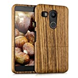kwmobile Natural wood case for the LG Google Nexus 5X in zebrawood brown