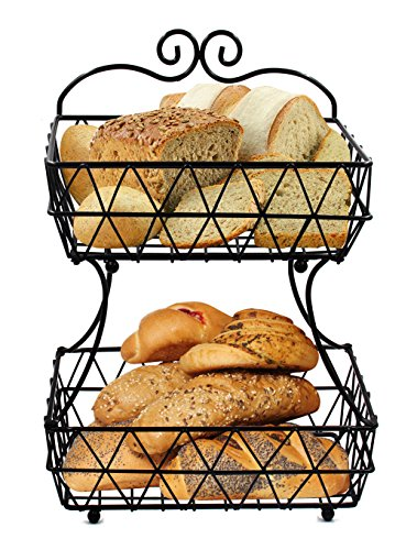 wire basket fruit stand - 8