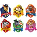 Paw Patrol Shield 3d Wall Sticker Set Art Kids Decal Stickers 4 Each Sticker