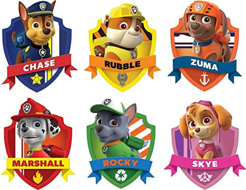 PAW PATROL SHIELD 3D WALL STICKER SET ART KIDS DECAL Stickers 4