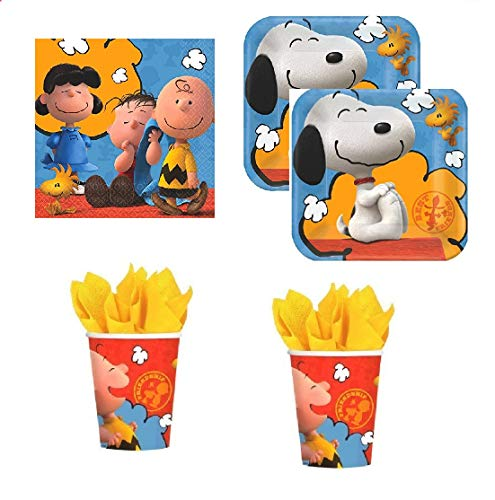 amscan Peanuts, Charlie Brown Party Pack for 16 -