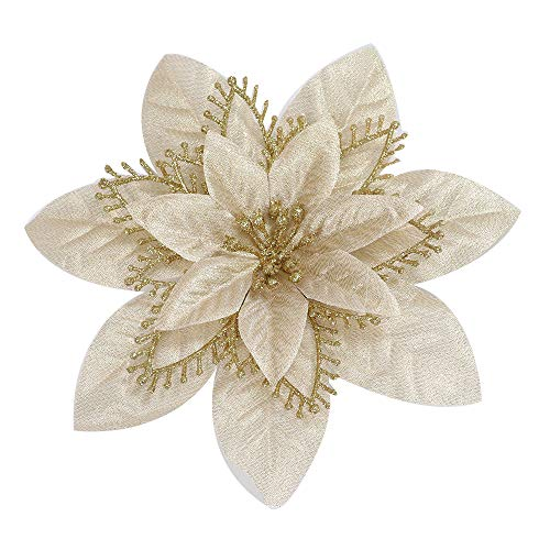 (Midress-Romantic Rosette Charm Party Decoration Christmas Tree Ornament Flower Outdoor Indoor Use - Premium Quality Home Garden Artificial Decoration Wedding Party Decorations (Gold))