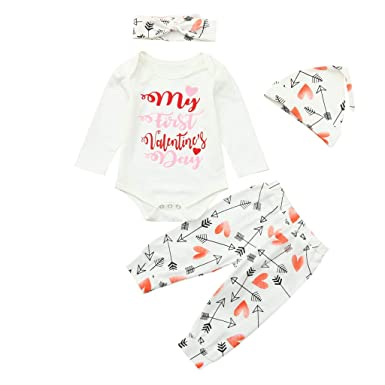 eaf803d7637f Amazon.com  Clothful 💓 Newborn Infant Baby Boy Girl Letter Romper ...