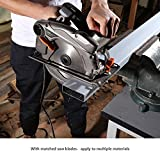 Tacklife 7-1/4 inch Circular Saw with Laser Guide, Lightweight Aluminum Guard, 2 Blade (24T & 40T), Ideal for Soft Metal, Wood, Tile Cutting - PES01A