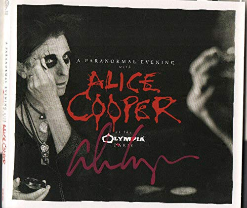 (Alice Cooper SIGNED Paranormal Evening at the Olympia Paris 2x disc CD #2 COA)