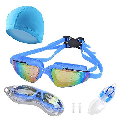 Unisex Long Hair Waterproof Swimming Caps(Grey) - 8