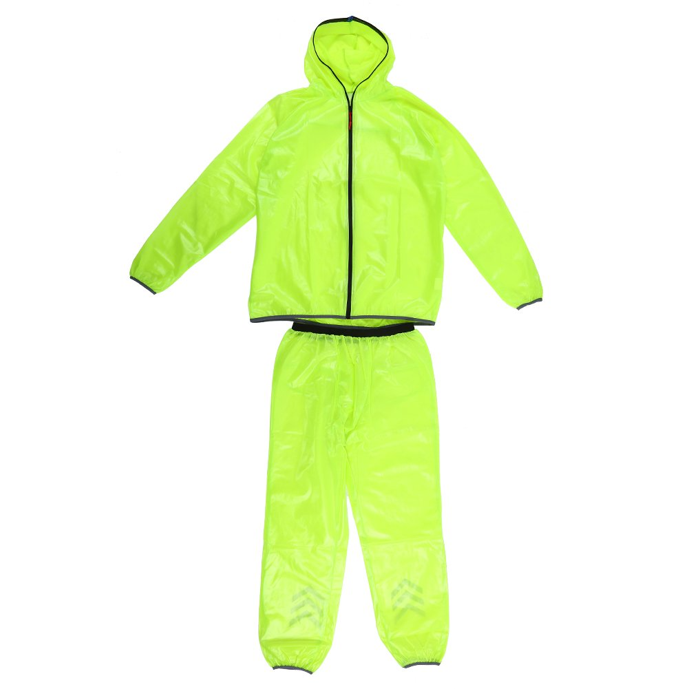 VGEBY Rainwear Suit, Unisex Lightweight Rainwear Jacket Trouser Suit With Storage Bags for Outdoor Travel(XXXL)