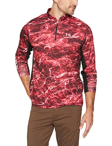 Huk Men's Elements Icon 1/4 Zip Long Sleeve Shirt,Elements ()