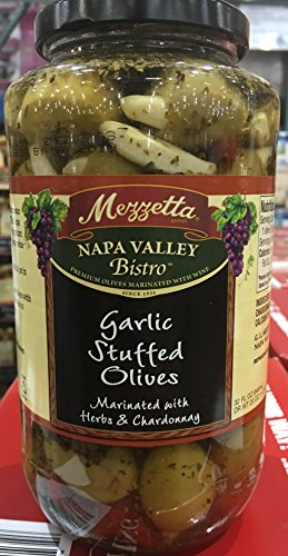 Mezzetta Napa Valley Bistro Garlic Stuffed Olives 32 OZ