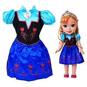 Add To Cart Disney Frozen Anna Toddler Doll Dress Combo