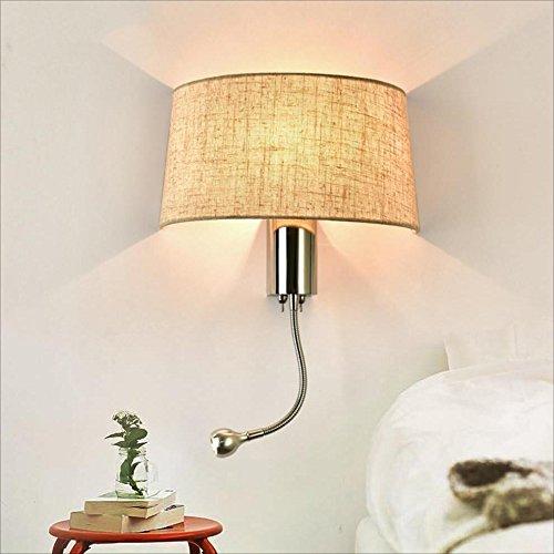 JXXDQ-Table lamp Moderne minimalistische Lesegewebe-Tischlampe Hotel Wohnzimmer Schlafzimmer Schreibtischlampe LED Nachttischlampe mit Schalter amerikanische Wandlampe (Farbe   3W)