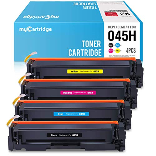 myCartridge Compatible Toner Cartridge Replacement for Canon 045H 045(CRG-045H) MF634cdw MF632cdw to use with Canon ImageCLASS MF634cdw MF632cdw LBP612cdw (Black Cyan Magenta Yellow,4PK)