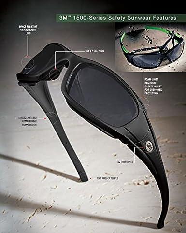 Amazon.com: 3 M Seguridad Sunwear ss1511af-b, Gray Lens ...