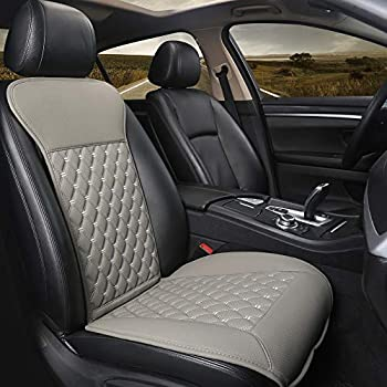 Black Panther Car Seat Cover, Luxury Car Seat Protector,Universal Anti-Slip Driver Seat Cover with Backrest, Diamond Pattern Embroidery (1Piece,Gray)