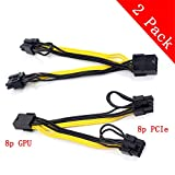 8pin PCI Express to 2 X PCIe 8 (6+2) pin & 6pin Motherboard Graphics Video Card PCI-e GPU VGA Y-splitter Hub Power Cable(2 pack)