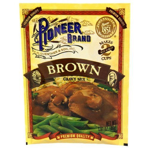 Pioneer Brand Gravy Mix, Brown, 1.61 Oz Packet (Pack of 12)