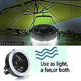 Camping Lantern with Ceiling Fan LED Tent Light Fan