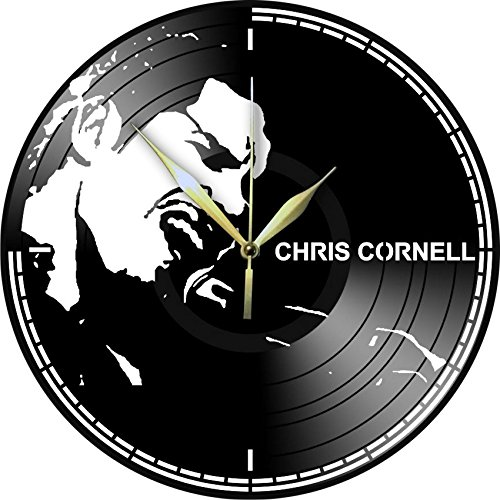 Are you looking for a present for a friend who loves CHRIS CORNELL ? Well...... you've found it! Laser cut vinyl record wall clock upcycled from an old 12