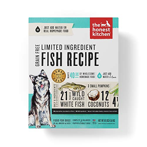 Honest Kitchen Limited Ingredient Fish Dog Food Recipe  10 lb box - Brave ()