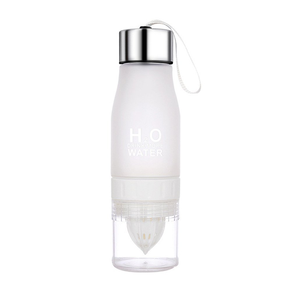 Camping & Hiking Dartphew 1Pcs [ Bike Water Drinking Bottle ] - Cool Cup Bike Bottle - Heat temperature: -20 to -110 degrees - Gift for friends(700ML) (White)