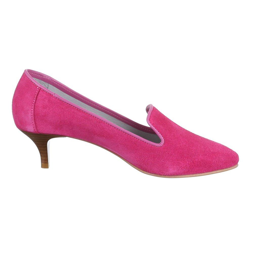 Ital-Design Pumps Wildleder Damenschuhe Business Pumps Ital-Design Komfort High Heels Pink f5debc