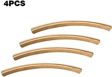 Juego de 4 tarjetas de juego de madera para juegos de mesa curvados con soporte para cartas y juegos: Amazon.es: Hogar