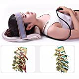 D&F Cervical Traction Pillow Neck Brace - Doctors Recommended Improve Spine Alignment Reduce Neck Pain