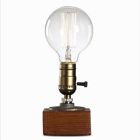 Retro Vintage Nachttischlampe Tischlampe Nachtlampe mit Tragegriff für