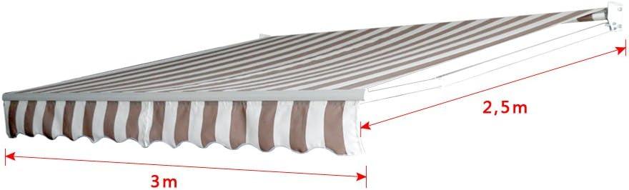 Froadp Store de Protection Solaire en Aluminium /étanche Anti-UV pour Balcon terrasse 250x200cm Gris fonc/é