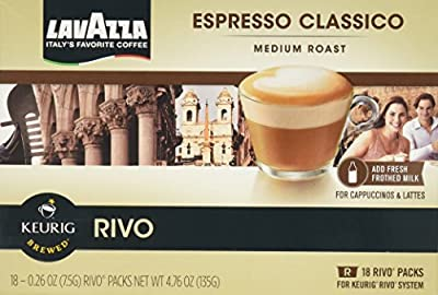 LAVAZZA ESPRESSO CLASSICO 72 PACKS made for KEURIG RIVO SYSTEM