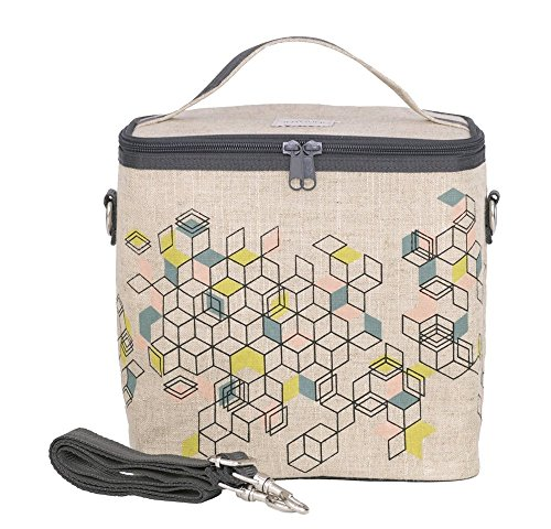 SoYoung Large Cooler Bag - Adult Lunch, Raw Linen, Eco-Friendly, Retro and Easy to Clean - Formation