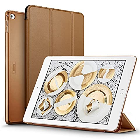 iPad Air 2 Case, ESR Smart Case Cover [Synthetic Leather] Translucent Frosted Back Magnetic Cover with Auto Sleep/Wake Function [Ultra Slim][Light Weight] (Mocha (Ipad 2 Air Magnetic Cover)