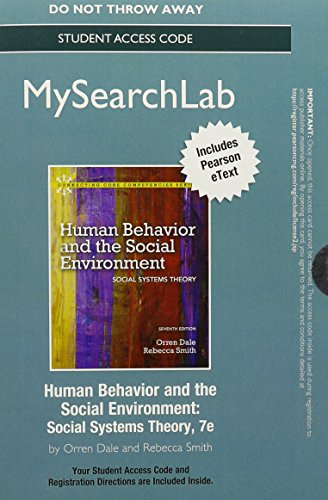 MySearchLab with Pearson eText -- Standalone Access Card -- for Human Behavior and Social Environment (7th Edition)
