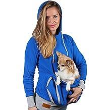 Clearance! sfe Women Pet Pocket Hoodie Sweatshirt Dog Cat Carry Pocket Hooded Pullover Sportswear
