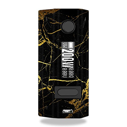 MightySkins Skin for Smoant Battlestar 200W - Black Gold Marble | Protective, Durable, and Unique Vinyl Decal wrap Cover | Easy to Apply, Remove, and Change Styles | Made in The USA