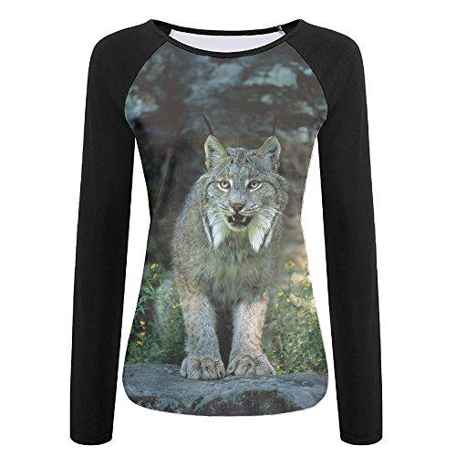 Canada Lynx Girls Popular Long Sleeve Raglan Tshirt Tops Soft - Glasses Kid Express Polar With