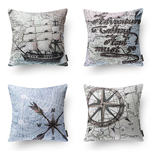 PHANTOSCOPE New Living Series Decorative Throw Pillow Case Cushion Cover 18″ x 18″ 45cm x 45cm Set of 4